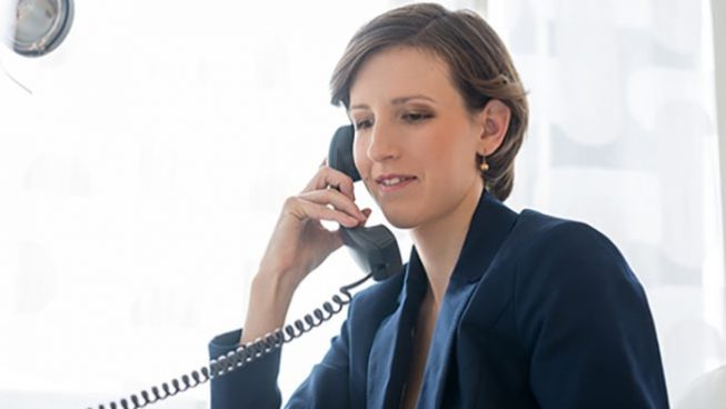 tax professional on the phone