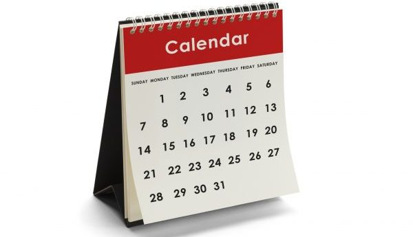 Genieric Calendar With Days and Dates Isolated on White Background.
