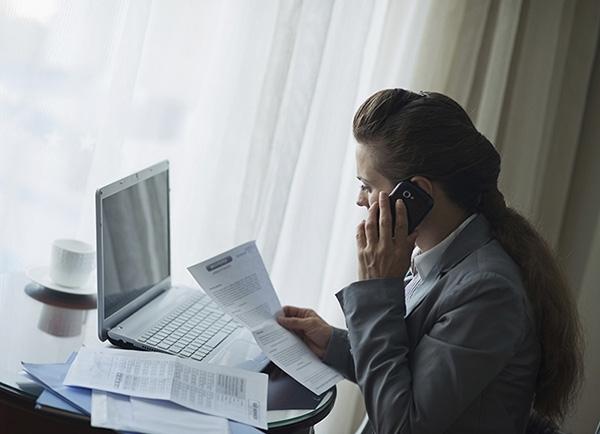 Tax accountant at work