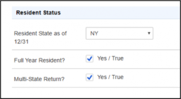 ProConnect Tax Online: Residence status