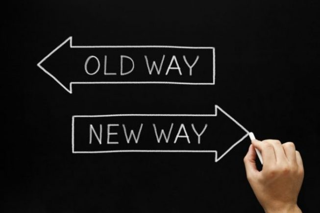 Old way versus the new way