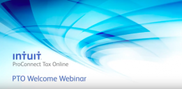 Intuit ProConnect Tax Online New User Webinar