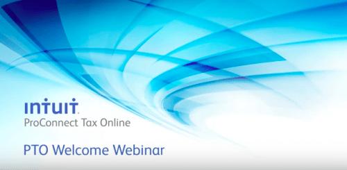 Intuit ProConnect Tax Online New User Webinar