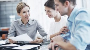 Tax professional with clients