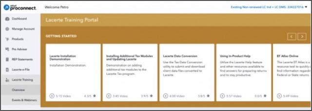 Intuit ProConnect Lacerte Training Portal 2018